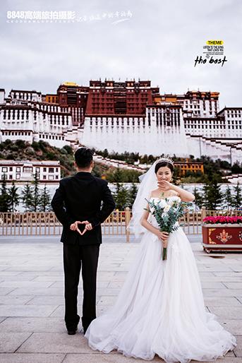 西藏 西藏布�_拉�m婚�照